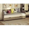 Детская кровать-диван с ящиками для белья Бриз 11