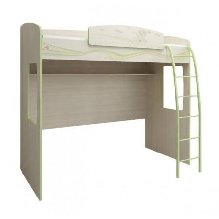 Деревянная кровать-чердак с игровой зоной Акварель 12