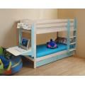 Детская двухъярусная кровать с рабочей зоной Теремок-2